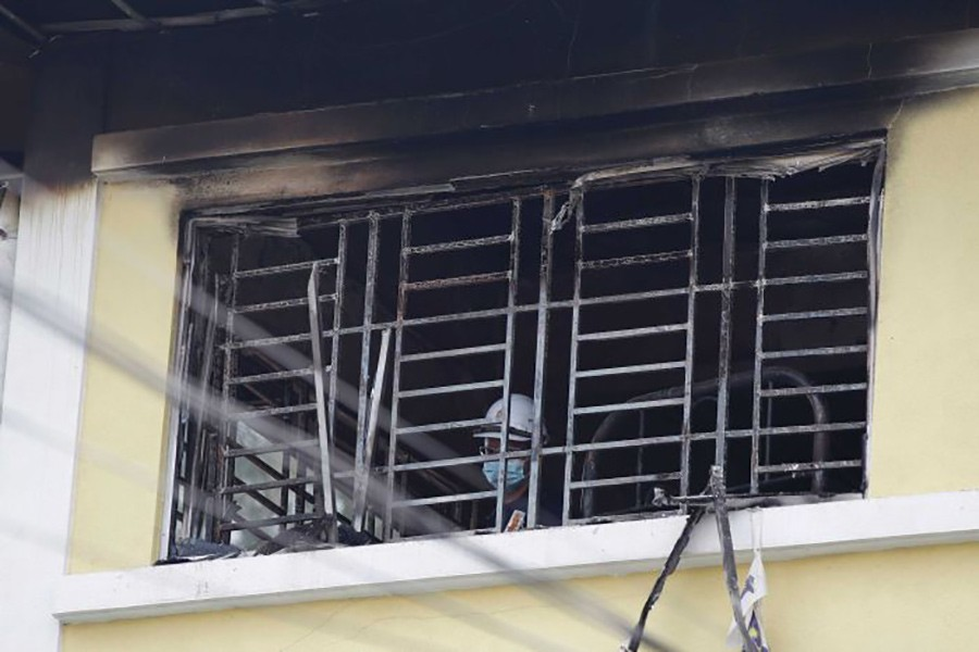 According to police, the fire started in the sleeping quarters at about 05:40 local time on Thursday. - AP photo