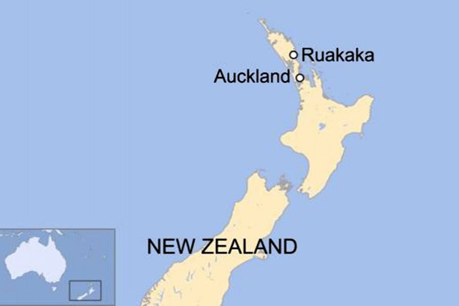 Ruakaka, where the pipeline was damaged, is about 130km (80 miles) north of Auckland. - BBC photo