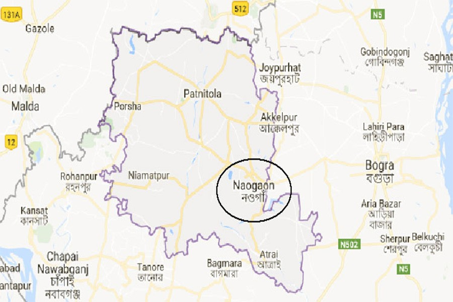 Google map showing Naogaon district