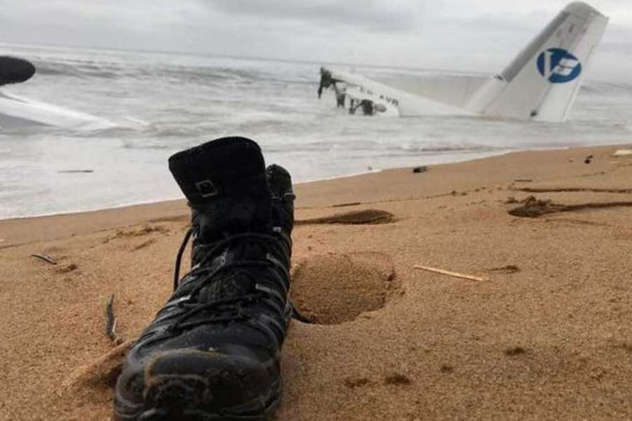 The wreckage is close to the shore. - Reuters photo
