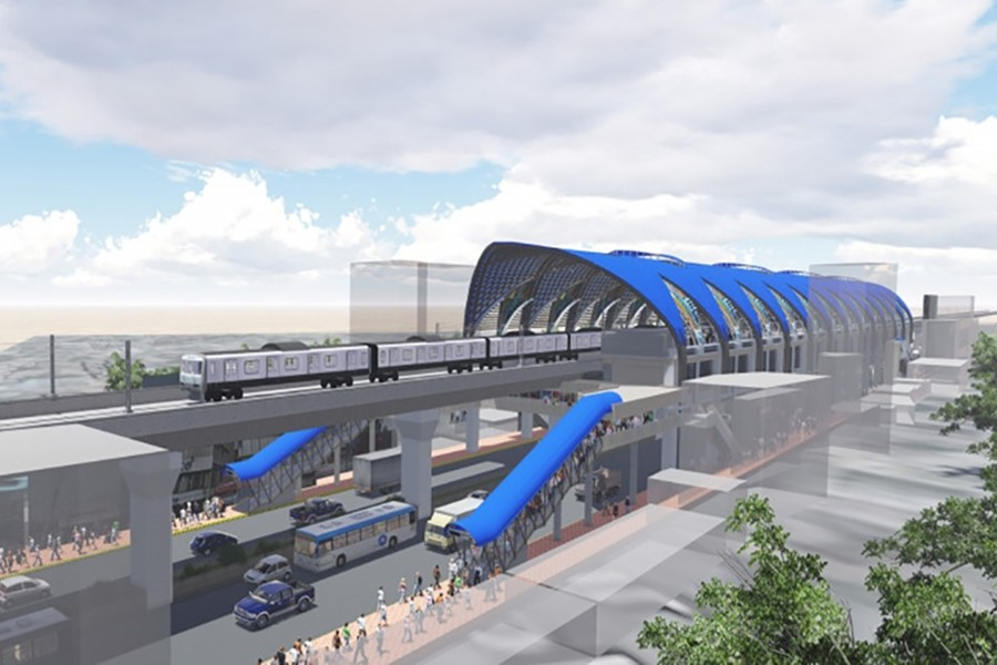 RSTP has proposed setting up the 40-km MRT-2 line from Gabtoli to Sayedabad through Mirpur Road to carry 1.0 million passengers per day. (Image courtesy: Dhaka mass transit company ltd)