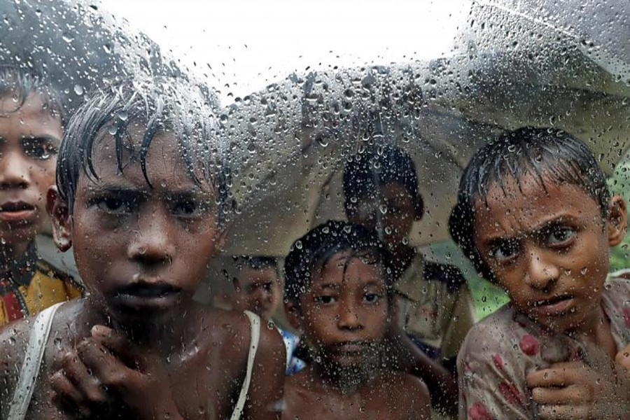 Rohingya refugee children pictured in a camp in Cox's Bazar, Bangladesh, September 19, 2017. - Reuters file photo
