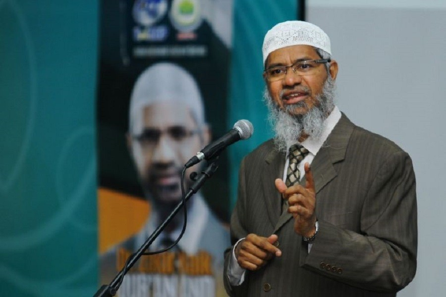 Zakir Naik, 52, is accused of inciting youth to take up terror acts and join terror outfits such as the Islamic State in Iraq and Syria (ISIS).Photo: Bernama