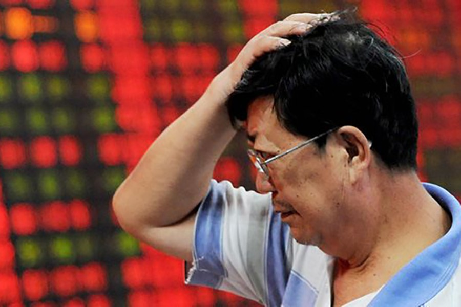 China stocks fall to 3-month low