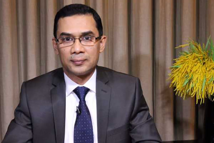 File photo shows BNP Senior Vice-Chairman Tarique Rahman.