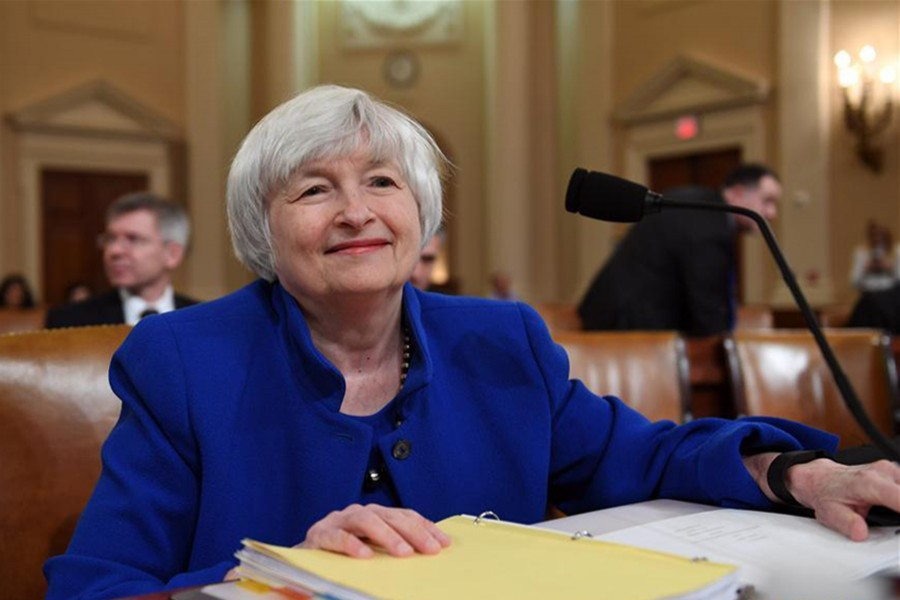 US Federal Reserve Chair Janet Yellen. File Photo (Collected)