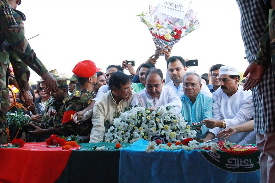 BNP bigwigs pay last respect to Annisul