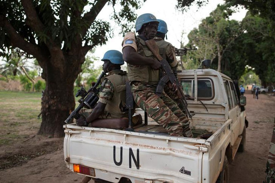 Cameroonian United Nations peacekeeping soldiers guard in the village of Bambara, Central African Republic, April 25, 2017. (Reuters Photo used for representational purpose)