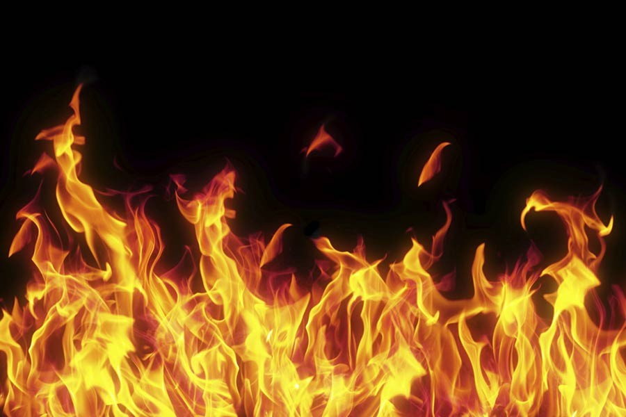 Fire guts 25 houses in Gazipur