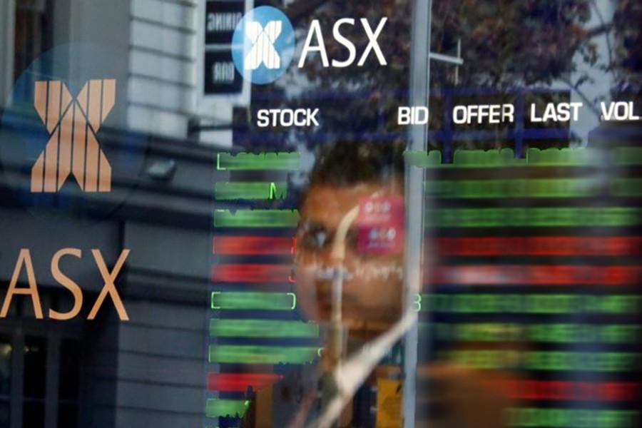 Australian shares hit 10-year high