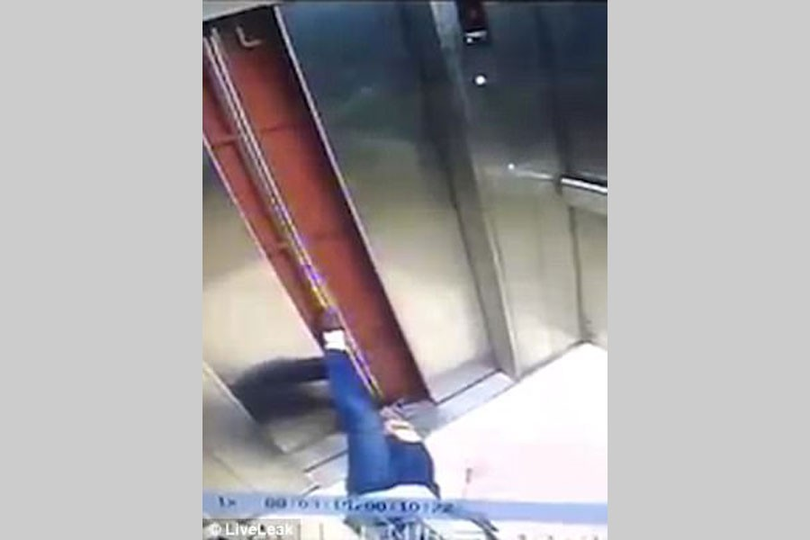 China woman loses leg in tragic lift accident