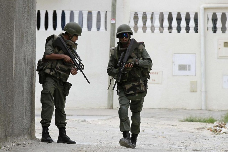 Tunisian soldiers patrol a residence in Oued Ellil, west of Tunis October 23, 2014. - Reuters file photo used only for representation.