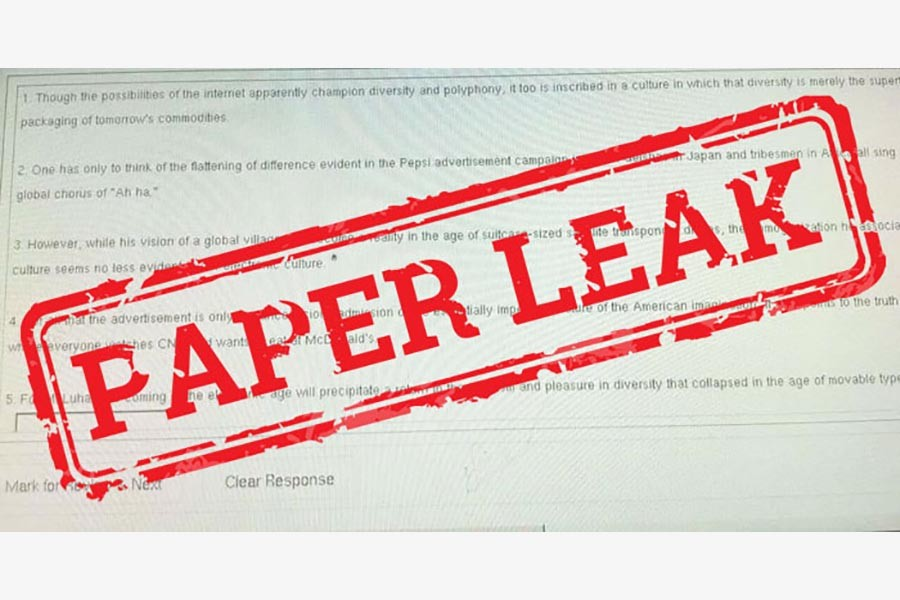 Question-paper leak continues