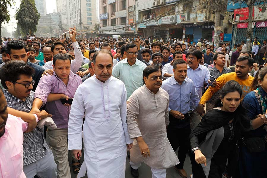 BNP protest rally on Saturday in Dhaka. -Focus Bangla Photo