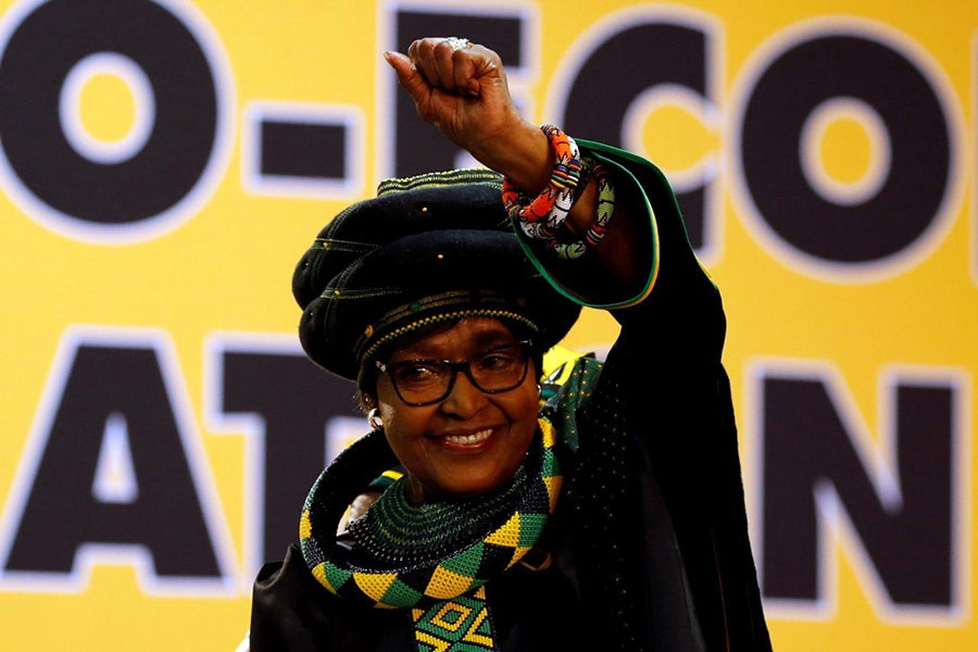 Winnie Madikizela Mandela was present at the 54th National Conference of the ruling African National Congress (ANC) in Johannesburg of South Africa last year. -Reuters Photo