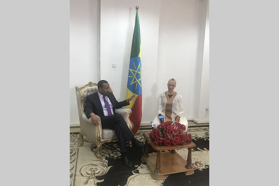 Sophia meets Ethiopian PM after recovering lost body parts