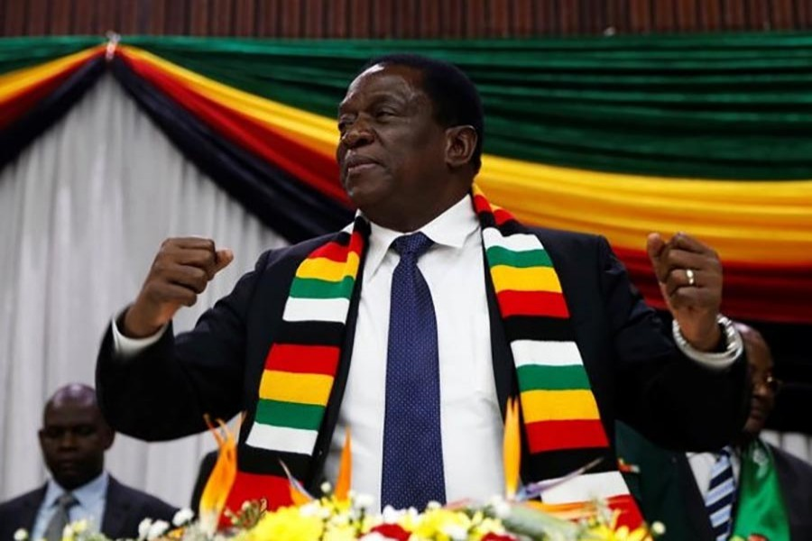 Newly elected Zimbabwean president calls for unity