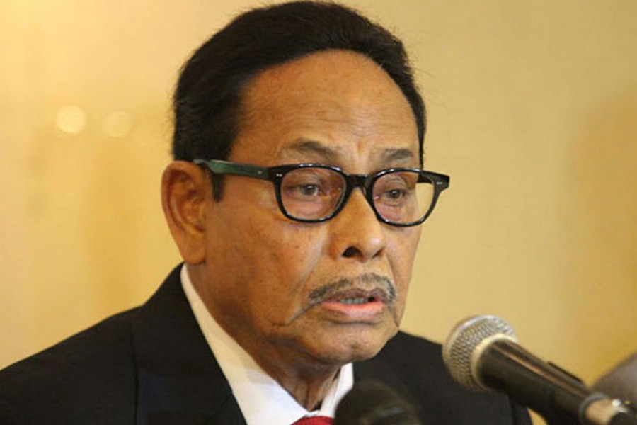 JP will remain with Awami League if BNP goes to polls: Ershad