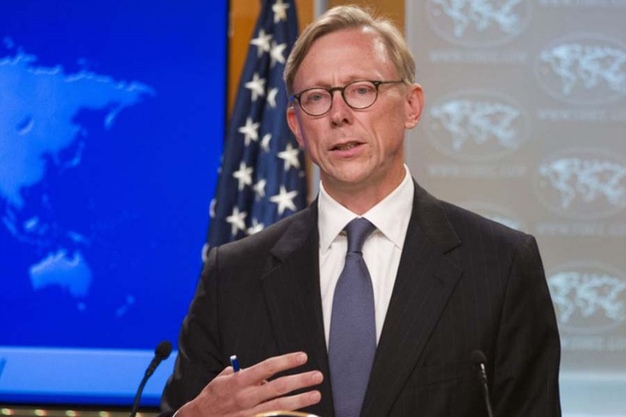 Brian Hook, special representative for Iran, speaks about the creation of the Iran Action (File Photo)