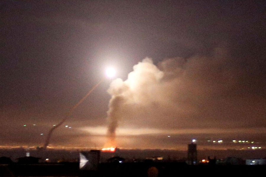 """The state media cited a military source as saying there was no """"Israeli aggression"""" directed at the Mezzeh airbase near Damascus, after the sound of explosions was heard across the Syrian capital - Internet photo"""