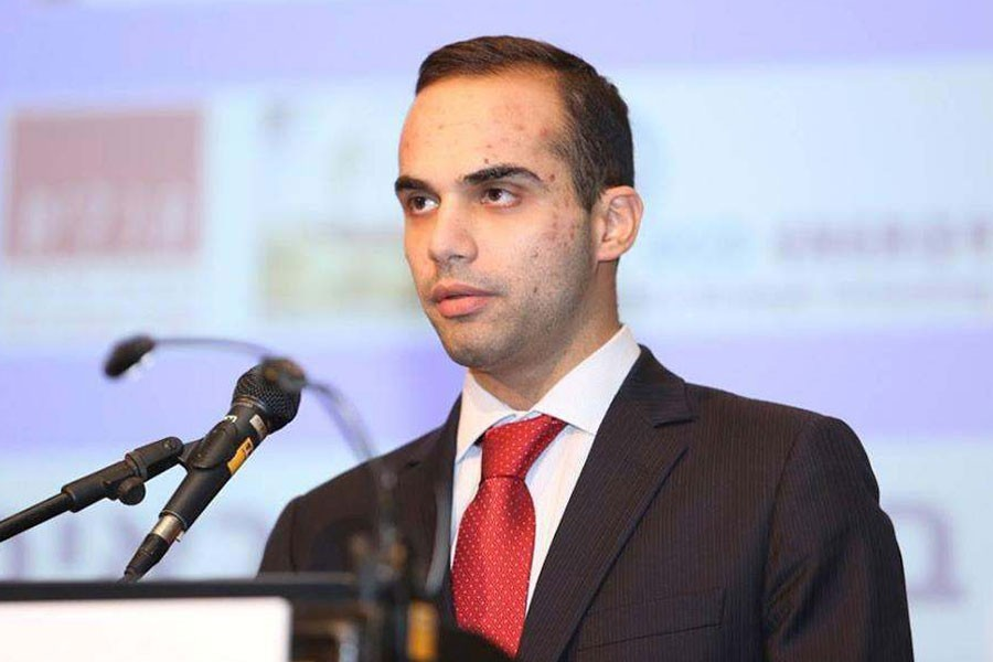 """George Papadopoulos, 31, told the court in Washington DC he was a """"patriotic American"""" who made a mistake by lying - Internet Photo"""