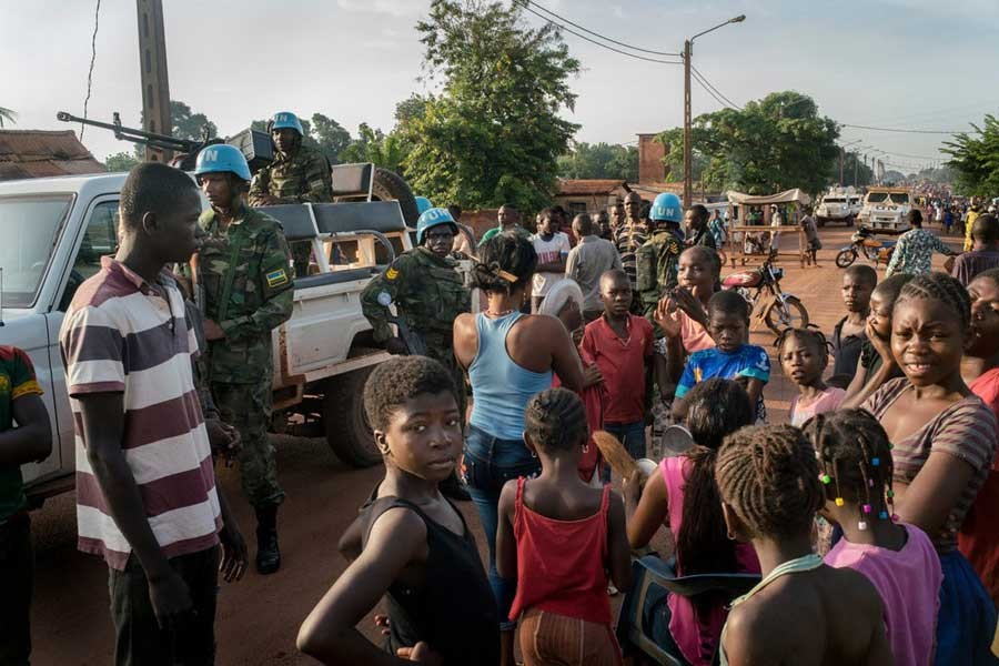 Protests in Bangui, Central African Republic, in May. The country has been plagued by conflict for years.               –Photo: The New York Times