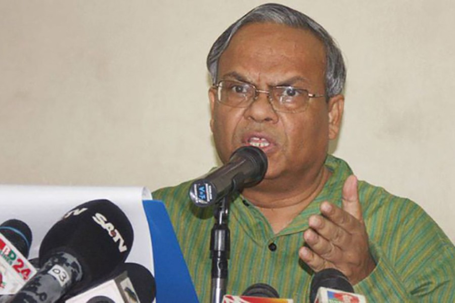File photo shows BNP senior joint secretary general Ruhul Kabir Rizvi