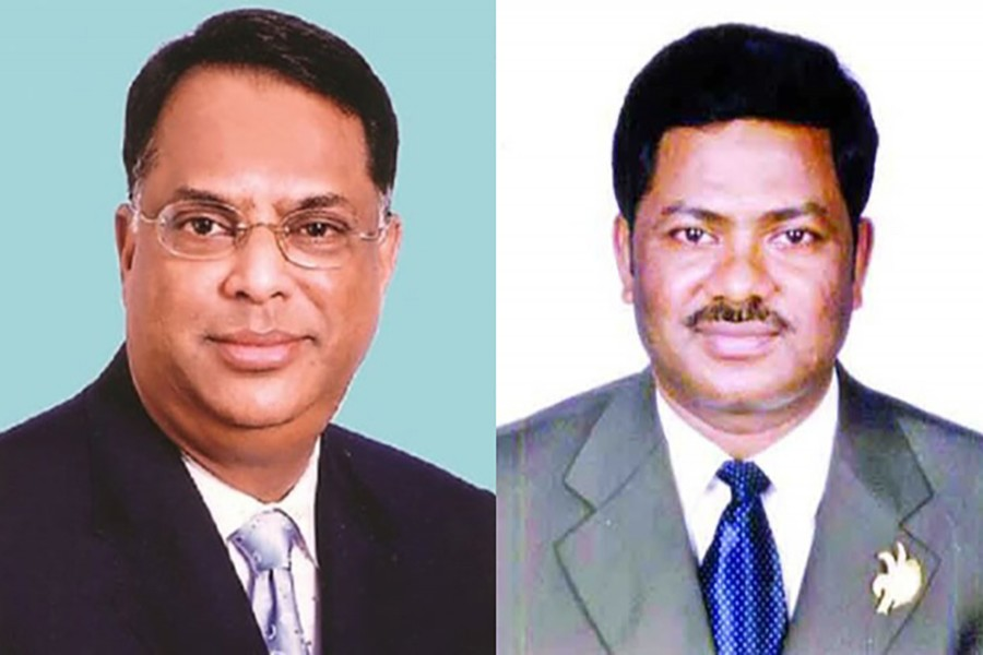 BNP leaders Iqbal Hasan Mahmud Tuku (L) and Ruhul Quddus Talukdar Dulu are seen in this photo collage