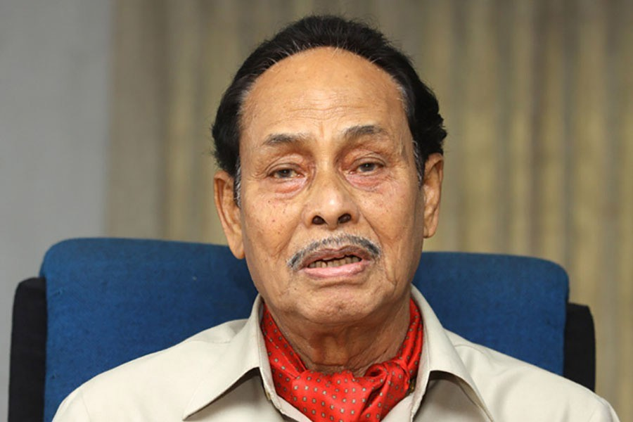 File photo shows Jatiya Party Chairman HM Ershad