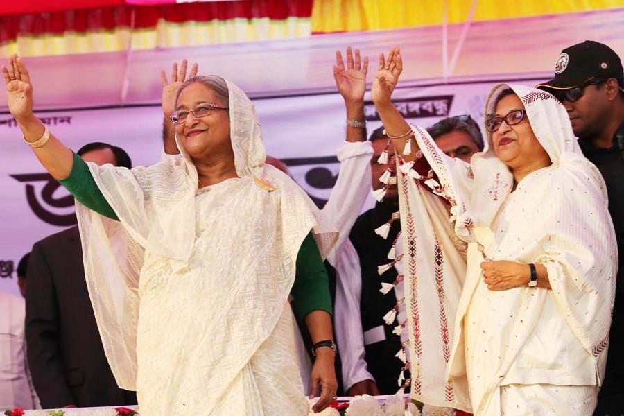 Hasina kicks off AL's election campaign