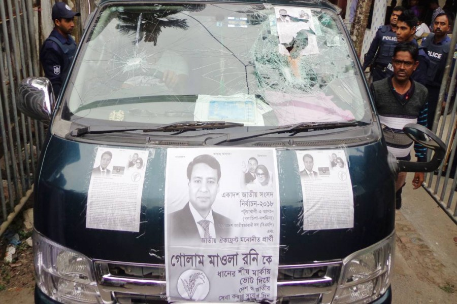 JP candidate's motorcade, Rony's wife's vehicle comes under attack