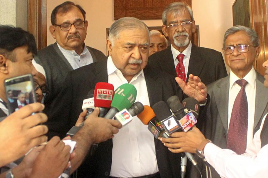 File photo shows Jatiya Oikyafront chief Dr Kamal Hossain — Collected