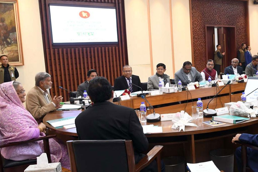 Prime Minister Sheikh Hasina presides over Ecnec meeting at the NEC Conference Room in Dhaka on Tuesday, Jan 22, 2019 - Photo: PID/UNB