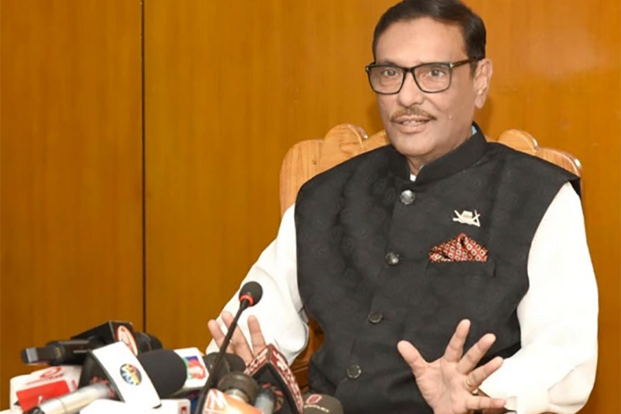 Opposition alliance isolated from people: Obaidul Quader