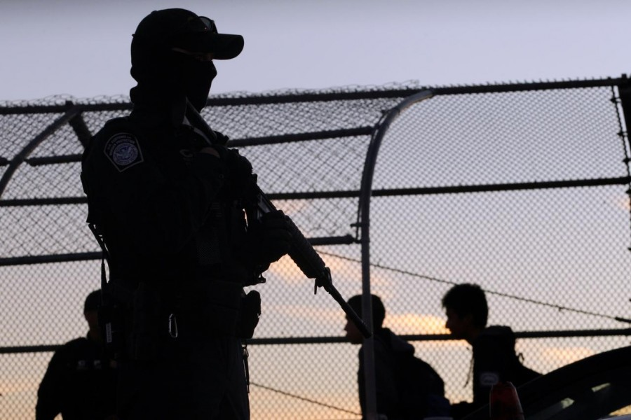 Following a tip-off, Mexican police intercepted a group of migrants who had been taken out of trucks in a western part of Reynosa city, which lies across the border from McAllen, Texas - Reuters file photo