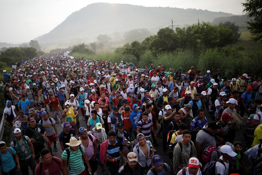 Caravans of migrants bound for the United States have sparked friction with US President Donald Trump, who has accused Mexico of failing to contain illegal immigration and wants a border wall built to stop people crossing - Reuters file photo