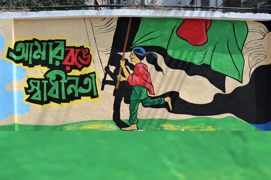 Asian Paints paints walls in city on 'Independence Day'