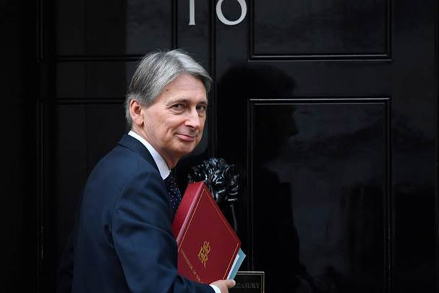 File photo of British Finance Minister Philip Hammond. (Collected)