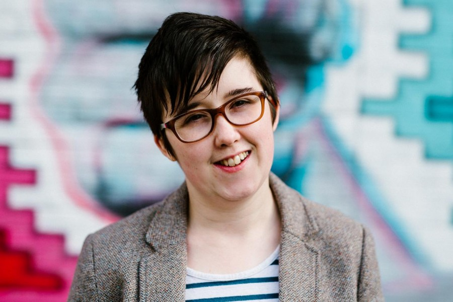 Journalist Lyra McKee poses for a portrait outside the Sunflower Pub on Union Street in Belfast, Northern Ireland May 19, 2017. Jess Lowe Photography/Handout via REUTERS