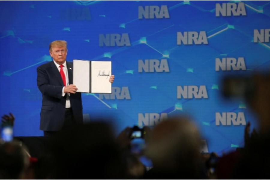 Trump pulling US out of UN arms treaty, heeding NRA