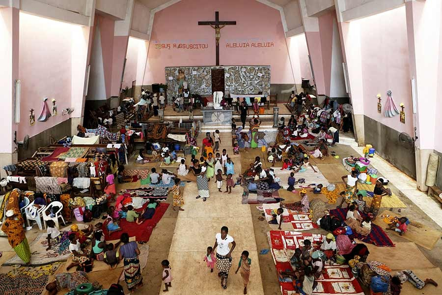 Muslim cyclone survivors take shelter in Mozambique church