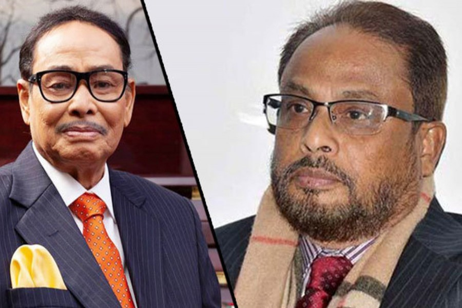 Ershad names Quader as acting chief of Jatiya Party