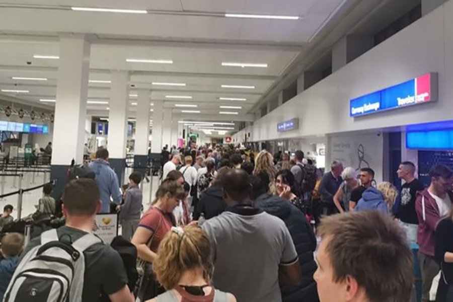 Manchester Airport grounds flights due to power issue