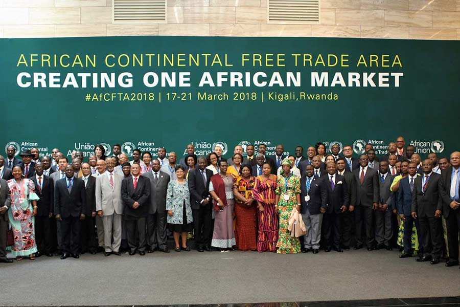 The African leaders posing for photograph during African Union (AU) Summit for the agreement to establish the African Continental Free Trade Area in Kigali, Rwanda, on March 21, 2018.  Photo: African Union