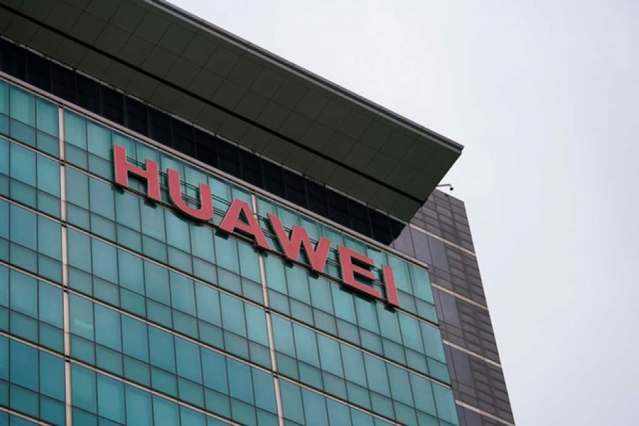 A Huawei company logo is seen at the company headquarters in Shenzhen, Guangdong province, China, Jun 17, 2019. Reuters/File Photo