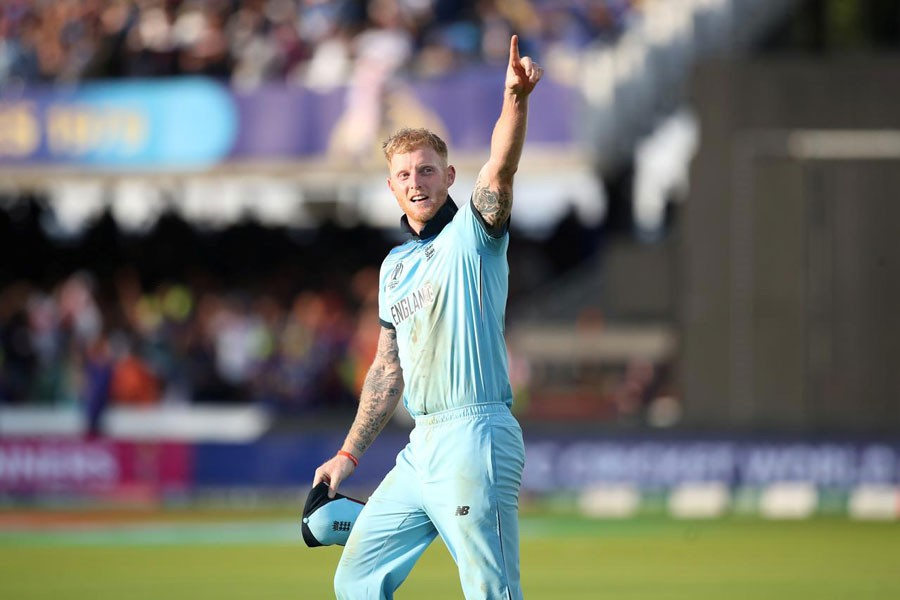 Cricket - ICC Cricket World Cup Final - New Zealand v England - Lord's, London, Britain - July 14, 2019 England's Ben Stokes celebrates winning the World Cup Action Images via Reuters/Peter Cziborra