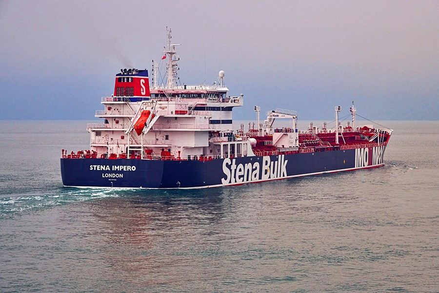 Undated handout photograph shows the Stena Impero, a British-flagged vessel owned by Stena Bulk, at an undisclosed location, obtained by Reuters on July 19, 2019 — Stena Bulk/via Reuters