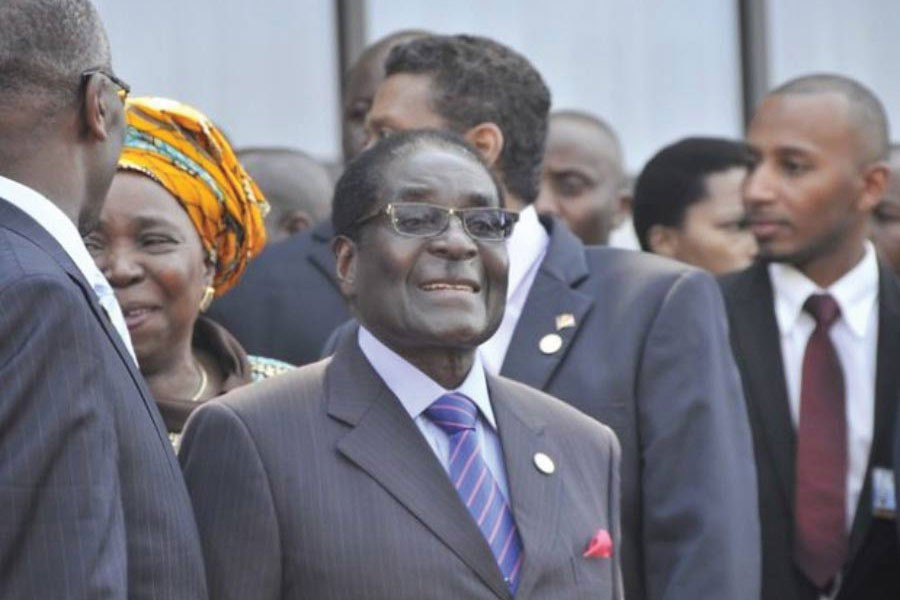 Former Zimbabwean President Robert Mugabe in 2013 pictured here at a Southern African Development Community heads of state summit in Malawi where he was given a standing ovation. Mugabe died of an undisclosed illness on September  06, 2019 in Singapore.           —Photo credit: Kervin Victor/IPS