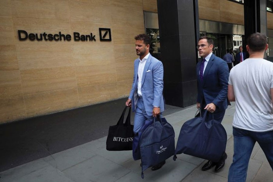 Hundreds of job cuts are expected at Deutsche Bank's London office.                  —Photo: Reuters