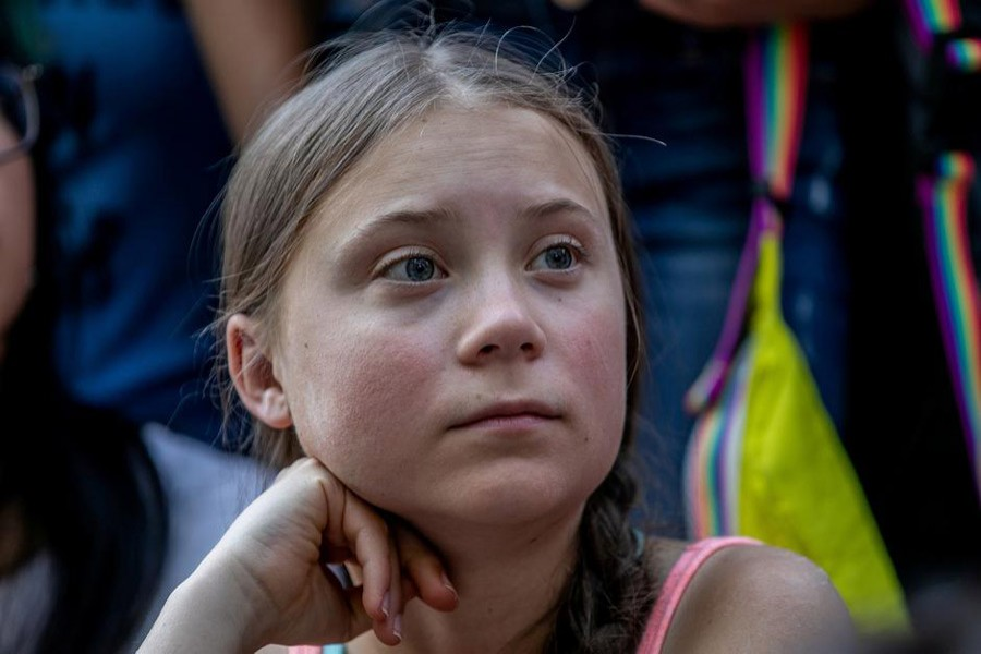 Swedish activist Greta Thunberg participates in a youth climate change protest in front of the United Nations Headquarters in Manhattan, New York City, New York, US, August 30, 2019. Reuters/Files
